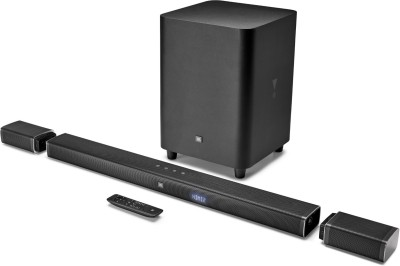 JBL BAR51 Dolby Digital DTS with (Wireless Speakers and subwoofer & 4k Surround Sound) 510 W Bluetooth Soundbar(Black, 5.1 Channel)