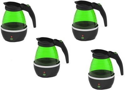 BEEJAY REALM Folding Travel Kettle Pack_4 Electric Kettle(0.8 L, Green)