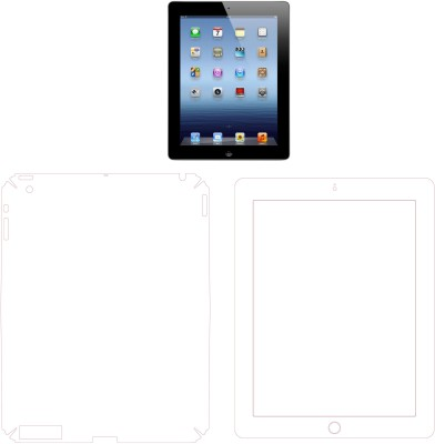 MudShi Front and Back Screen Guard for Apple The New Ipad (3 Gen)(Pack of 2)