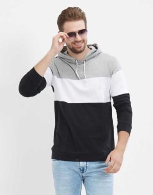T.N.X Color Block Men Hooded Neck Multicolor T-Shirt