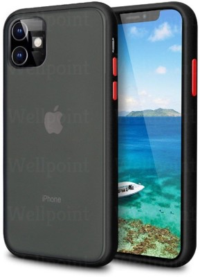 Wellpoint Back Cover for Apple Iphone 11, 6.1inch, Plain, Case, Cover(Black( BUTTEN -Red, Grip Case)