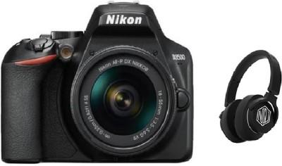 Nikon D3500 DSLR Camera AF-P DX NIKKOR 18-55mm (With Starboy Headphone) DSLR Camera AF-P DX NIKKOR 18-55mm f/3.5-5.6G VR(Black)