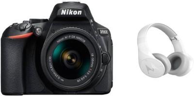 Nikon D5600 DSLR Camera Body with Single Lens: AF-P DX Nikkor 18-55 MM F/3.5-5.6G VR (16 GB SD Card) - (With Motorola Bluetooth Headphone) DSLR Camera Body with Single Lens: AF-P DX Nikkor 18-55 MM F/3.5-5.6G VR (16 GB SD Card)(Black)