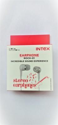 Intex Rock-01 Wired Headset(Black, In the Ear)