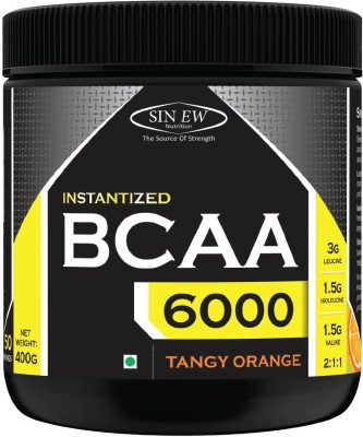 Sinew Nutrition Instantized BCAA 2:1:1, 0.88lb - 50 Serving BCAA(400 g, Tangy Orange)