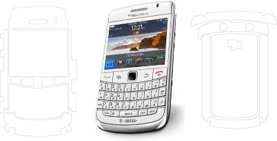 Mudshi Front and Back Screen Guard for Blackberry 9780(Pack of 2)