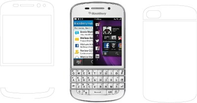 MudShi Front and Back Screen Guard for Blackberry Q10(Pack of 2)