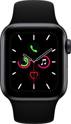 Apple Watch Series 5 GPS 40 mm Space Grey Aluminium Case with Black Sport Band(Black Strap, Regular)