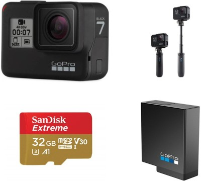 GoPro Hero 7 Black Holiday Bundle Sports and Action Camera(Black, 12 MP)