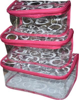 Aadhya Pack of 1 printed cosmetic bag bridal organizer jewellery storage box-set of 3 Storage Vanity Box(Multicolor)