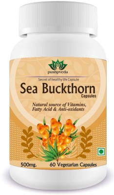 Pushpveda Sea Buckthorn 500mg Vegetarian 60 No