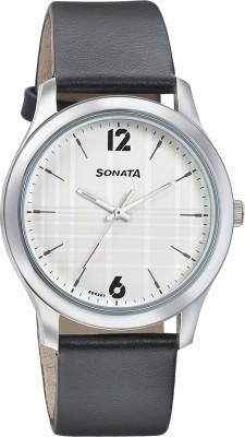 Sonata 77106SL02 Analog Watch - For Men