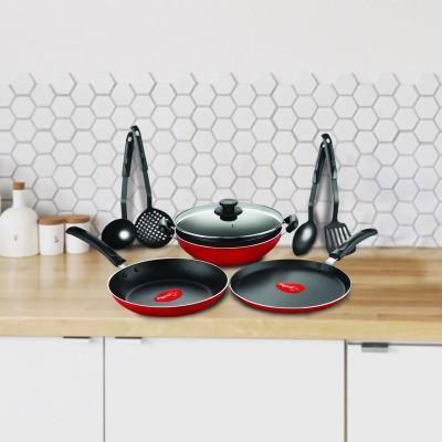 Pigeon Mio Cookware Set(Aluminium, 8 - Piece)