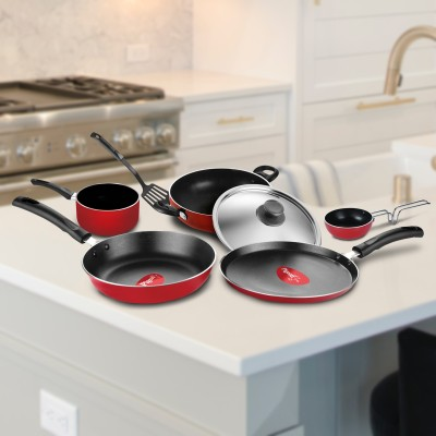 Pigeon Non- stick cookware- Favourite 7Pcs Gift set Cookware Set(Aluminium, 7 -...