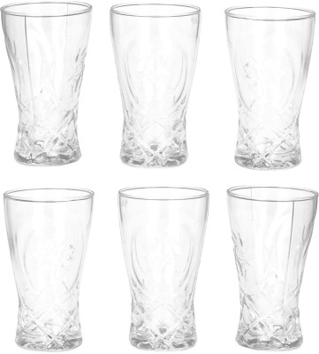 Borosil BVVIBLEAFWM Glass Set(Glass, 295 ml, Clear, Pack of 6)