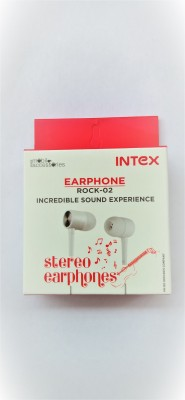 Intex Rock-02 Wired Headset(White, In the Ear)