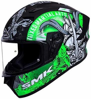 SMK MA268 Motorbike Helmet(Black, Green)
