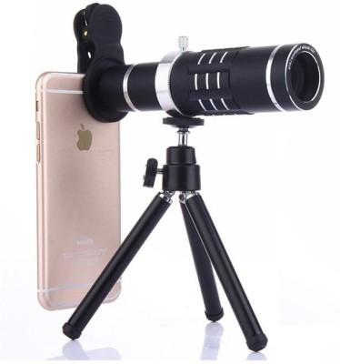 EWELL 18X Manual Focus ZOOM Monocular Telephoto Cell Phone Lens Black-b Mobile Phone Lens