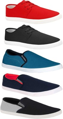 BRUTON Combo Pack of 5 Casual Sneakers With Sneakers For Men(Multicolor)