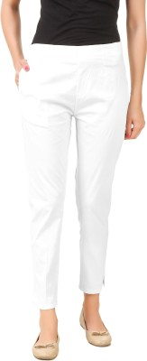 Q-Rious Regular Fit Women White Trousers