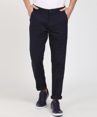 Roots By Ruggers Regular Fit Men Dark Blue Trousers