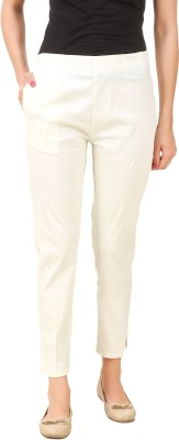 Q-Rious Regular Fit Women Cream Trousers