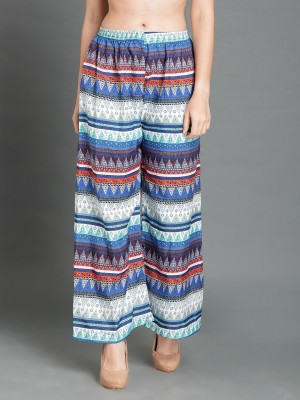 DARZI Regular Fit Women Multicolor Trousers DARZI Palazzos