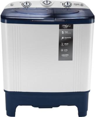 MarQ by Flipkart 6.5 kg with Twin Shower Technology Fully Automatic Top Load Grey(MQTLD65W)