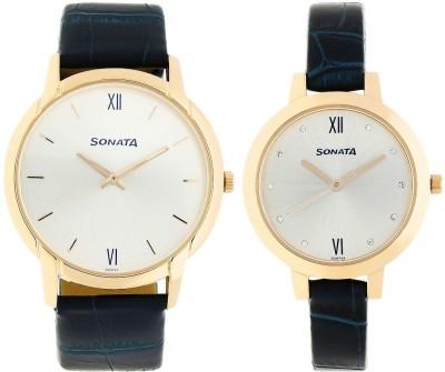 Sonata 770318141WL01 Analog Watch  - For Couple