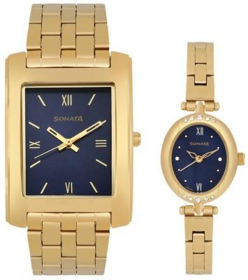 Sonata 79538118YM01 Analog Watch  - For Couple