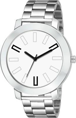 Lizzy Trending 152 WHITE DAIL STEEL CHAIN BELT BEST SELLING MAN WATCH Watch - For Men Analog Watch  - For Men