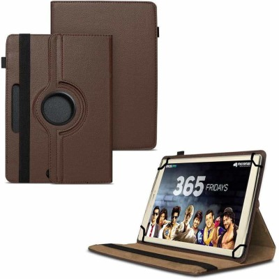 TGK Flip Cover for Micromax Canvas Plex Tab 32 GB 8 inch with Wi-Fi+4G Tablet with Rotating Leather Stand Case(Brown, Shock Proof)
