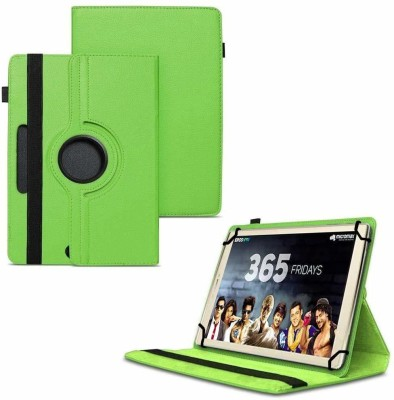 TGK Flip Cover for Micromax Canvas Plex Tab 32 GB 8 inch with Wi-Fi+4G Tablet with Rotating Leather Stand Case(Green, Shock Proof)