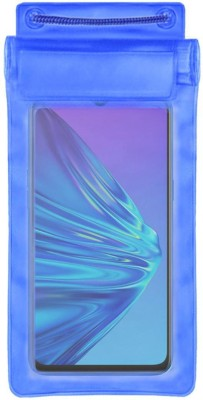 ACM Pouch for Realme 5(Blue, Waterproof, Silicon)