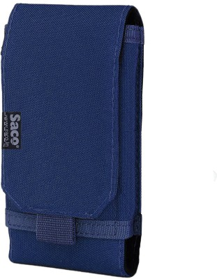Saco Wallet Case Cover for Belt Waist Packs Pouch Holster for Mobile Phone (Size L) Sports Fitness Outdoors Running Jogging(Blue, Holster)