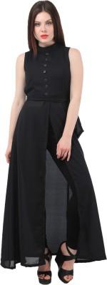 Micro Mount Women Maxi Black Dress
