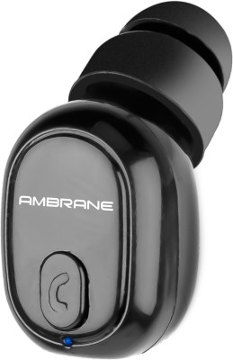 Ambrane H9 Bluetooth Headset(Black, True Wireless)