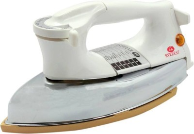 Everest Plancha Dry Iron Box Gold Plated Consumes 1000 W 1000 W Dry Iron(White)