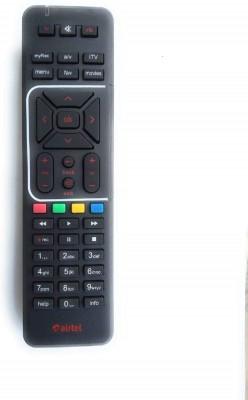 Airtel Regular Digital TV SD/HD DTH Compatible Remote Remote Controller(Black)