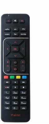 Airtel Airtel HD remote HD Set Top Box Remote With AAA Battery Remote Controller(Black)