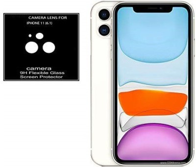 KHR Camera Lens Protector for Apple iphone 11 [9H Flexible] Bubble-Free, Anti-Scratch Camera Glass Screen Protector - Iphone 11 (6.1 inch)(Pack of 2)