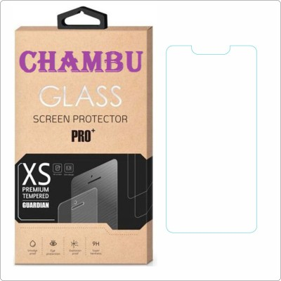 CHAMBU Edge To Edge Tempered Glass for Lava Mobiles Iris X1 Atom S(Pack of 1)