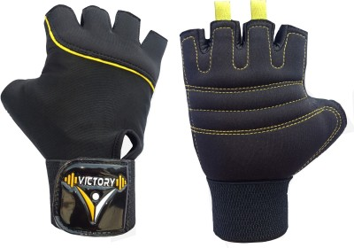 VICTORY NEO SKIN FIT Gym & Fitness Gloves Gym & Fitness Gloves(Yellow)