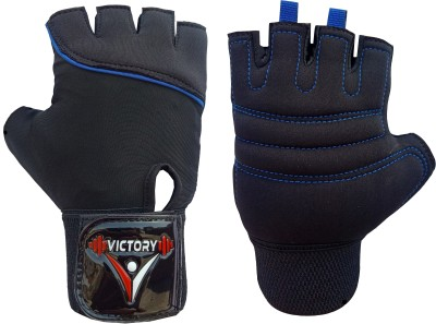 VICTORY NEO SKIN FIT Gym & Fitness Gloves Gym & Fitness Gloves(Blue)