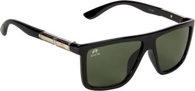 Aislin Wayfarer, Rectangular Sunglasses(Green)
