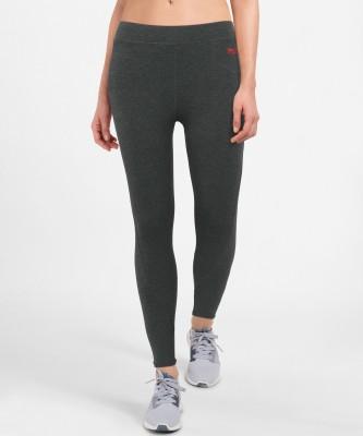 Fila Solid Women Grey Tights