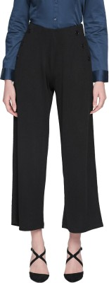 Annabelle by Pantaloons Regular Fit Women Black Trousers