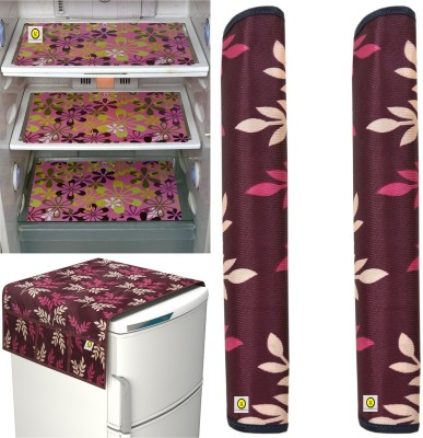 Yellow Weaves Refrigerator  Cover(Multi)