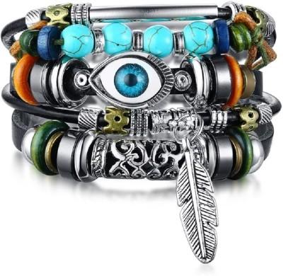 Impression Leather Bracelet(Pack of 4)