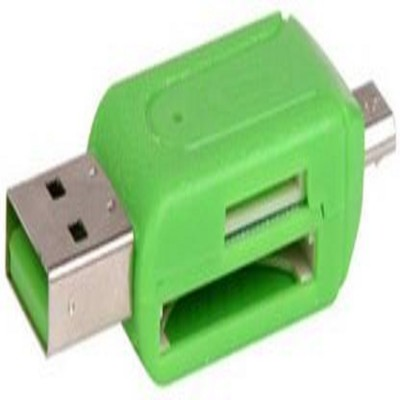 rkg USB 2.0 + Micro USB OTG SD T Flash Adapter for Cell Phone PC Card Reader Card Reader Green